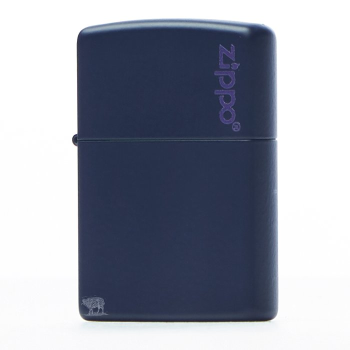 黑羊選物 Zippo 深藍素面基本款 logo小標 美國原廠 烤漆質感 多色可挑 經典配件 菸友必備 適合送禮