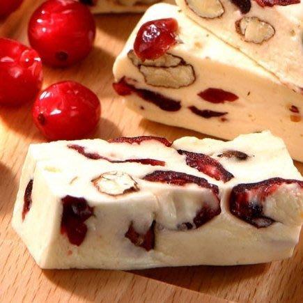 蔓越莓牛軋糖~使用杏仁果粒、麥芽糖 不黏牙150克 純手工 另有綜合、玫瑰、抹茶、桂花、原味口味 【全健健康生活館】