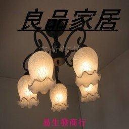 【易生發商行】田園吸頂燈臥室 簡約燈具歐式餐廳燈具 鐵藝田園吸頂燈 5頭F6285
