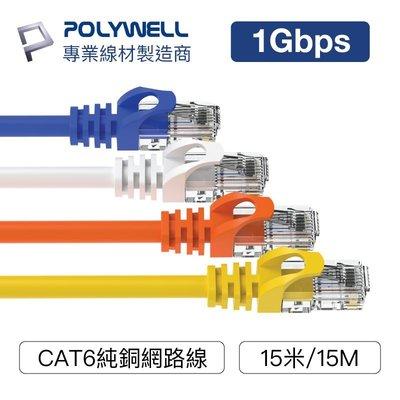 (現貨) 寶利威爾 CAT6 高速網路線 15米 CAT.6 網路線 RJ45 福祿克認證 POLYWELL