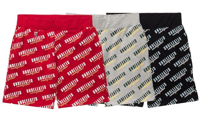 【 超搶手 】全新正品 UNDEFEATED FANATIC SWEATSHORT 短褲 棉褲 黑 灰 紅色 S M L