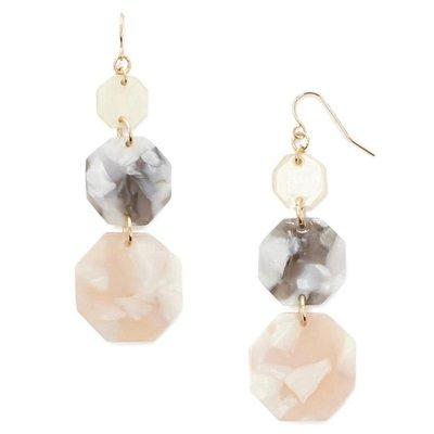 正品 FOREVER 21 octagon drop earrings