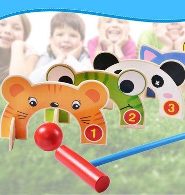 【晴晴百寶盒】木製槌球 親子槌球 益智遊戲 寶寶过家家玩具 角色扮演 親子互動 生日禮物 平價促銷 P114