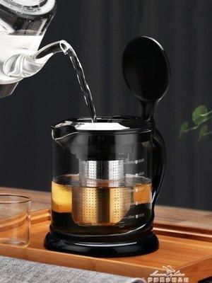 泡茶壺家用耐熱玻璃水壺過濾耐高溫大號大容量泡茶器加厚茶具套裝 最低價促銷