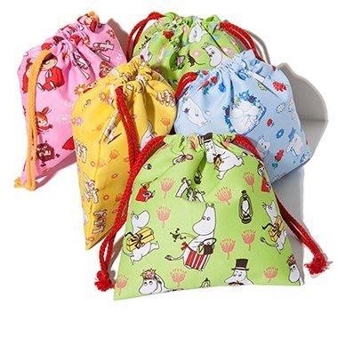 ☆Eric Zakka☆日本嚕嚕米 Moomin 亞美純色布藝收納袋 便攜抽繩束口袋整理袋【現貨】