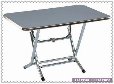☆ 凱創家居館 ☆《C001-84-06  電鍍小腳折合餐桌【白鐵面】 》不鏽鋼餐桌-不鏽鋼圓桌
