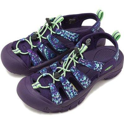 =CodE= KEEN NEWPORT RETRO SANDALS 編織彈性綁繩護趾防水包頭涼鞋(紫雪花)1018211