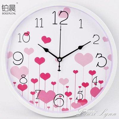 靜音時尚卡通掛鐘兒童臥室客廳創意掛錶簡約壁鐘家庭石英鐘錶 HM    全館免運