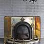 法國 黃銅鑄鐵古董壁爐/ 火爐 歐洲古董老件(...