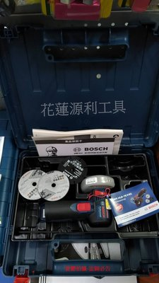 【花蓮源利】含稅 德國製【單主機】GWS 10.8V-EC 附箱 充電式砂輪機 3吋 非牧田MAKITA GKS 12V