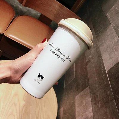 保溫杯情侶咖啡杯便攜帶提手不銹鋼杯隨行杯