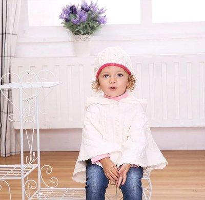 貝克比比屋☆冬季 Mom and Bab 超美氣質優雅針織斗篷*1-2T.3-4T.5-6T