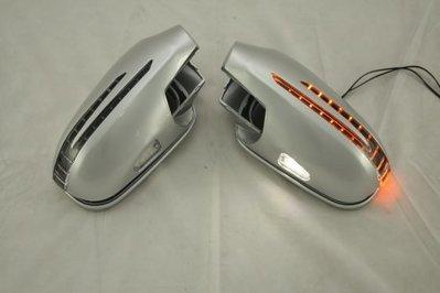 泰山美研社19012311 BENZ 賓士 W208 W168 R170 SLK 鍍鉻銀 箭矢型後視鏡LED方向燈蓋