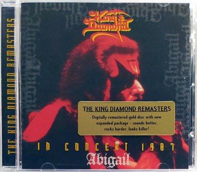King Diamond - In Concert 1987:Abigail 黃金重製盤 二手德版