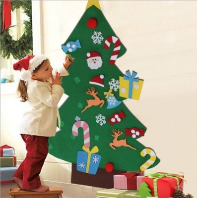 ☆╮布咕咕╭☆動手佈置無紡布聖誕樹裝飾聖誕樹毛氈耶誕節掛件