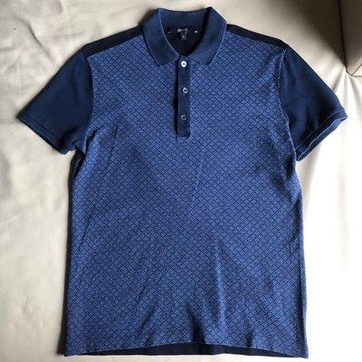 [品味人生2]保證正品 GUCCI 藍色  短袖polo衫 網眼POLO衫 size S