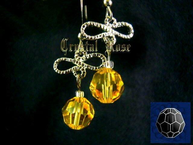 ※水晶玫瑰※ SWAROVSKI 8mm水晶珠 耳勾式針式耳環(DD340)~出清~三對免郵