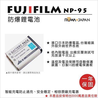 趴兔@樂華 FOR Fuji NP-95 相機電池 鋰電池 防爆 原廠充電器可充 保固一年