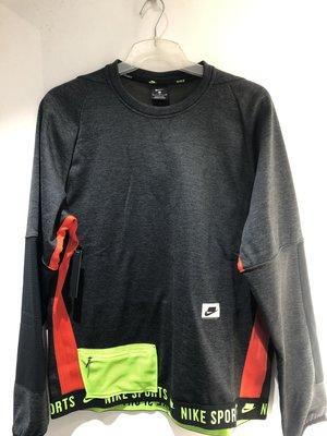 NIKE 黑色 拼接 拉鍊 口袋 慢跑 運動 健身 長袖 保暖 大學T BV3300-010 請先詢問庫存