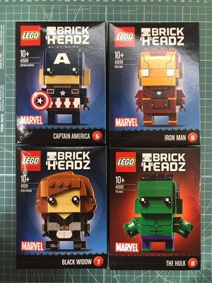 LEGO BRICKHEADZ CAPTAIN AMERICA IRONMAN BLACK WIDOW HULK 41589 41590 41591 41592