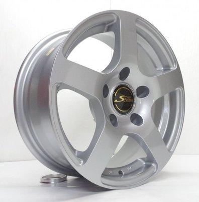 【超前輪業】 全新鋁圈 S873 14吋鋁圈 4孔114.3 5孔114.3 高亮銀 歡迎詢問搭配輪胎