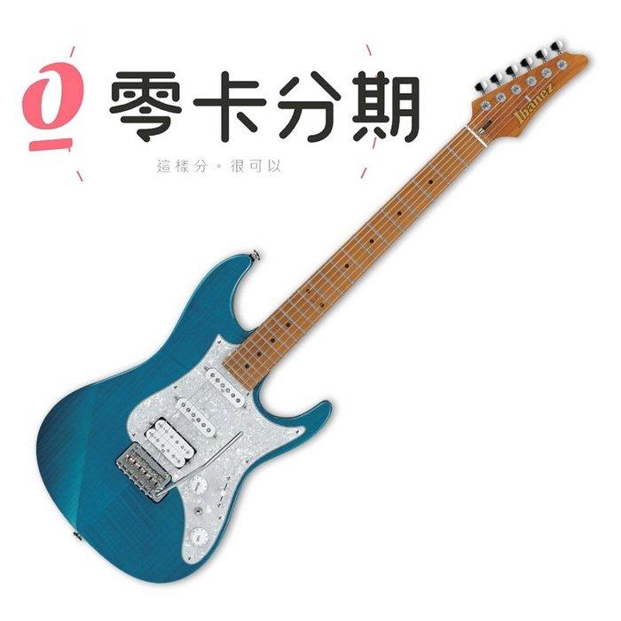 ☆唐尼樂器︵☆歡迎零卡分期 Ibanez 日廠 AZ2204F-TAB 透明水藍色 AZ 系列 電吉他