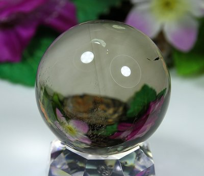 孟宸水晶 = A9025  (100%天然超清透茶水晶球188克)