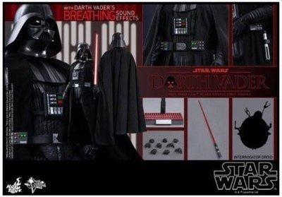 全新未開 Hottoys Star Wars Episode IV A New Hope Darth Vader  MMS279黑武士