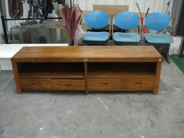 樂居二手家具館 台中二手家具賣場 TK-A00A* 全新柚木電視櫃 實木TV櫃 矮櫃 高低櫃 平面櫃*客廳家具拍賣沙發