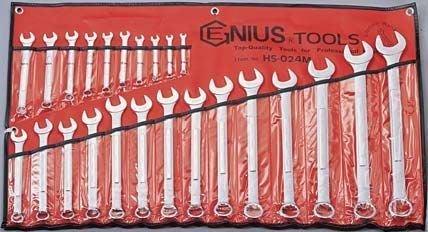 【ToolBox】~ 加拿大-Genius-6mm~32mm公制/梅開扳手工具組-24件式工具組
