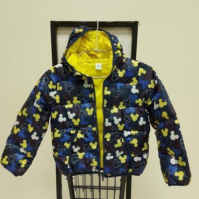 迪士尼迷彩90%輕羽絨兒童外套
