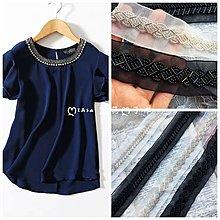『ღIAsa 愛莎ღ手作雜貨』(50cm)手縫串珠網紗條碼蕾絲服裝領口材料DIY腰帶肩飾品輔料