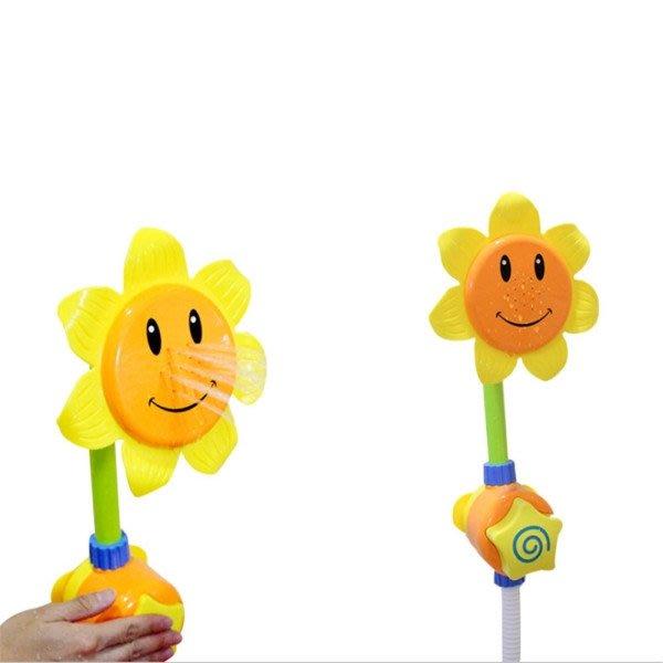 寶寶洗澡玩具嚮日葵手動花灑卡通太陽花噴水浴室夏天戲水玩具      哆啦の魔法口袋4349
