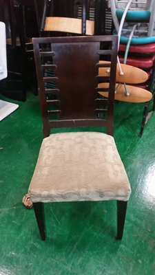 中古家具賣場 台中宏品二手傢俱 F231*胡桃花布餐椅*洽談桌椅 麻將桌椅 會議桌椅 電腦桌椅 書桌椅辦公椅 台中市