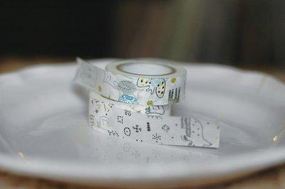 《散步生活雜貨-和紙膠帶系列》日本製  倉敷意匠 野獸+星空紙膠帶A 2捲一組 29927-01