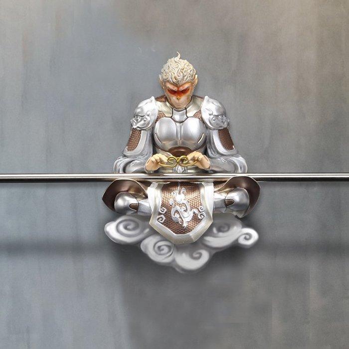 5Cgo【茗道】簡約現代孫悟空3D立體浮雕壁飾壁挂新中式裝飾畫客廳玄關餐廳挂件鬥戰勝佛鬥戰勝佛589577668689