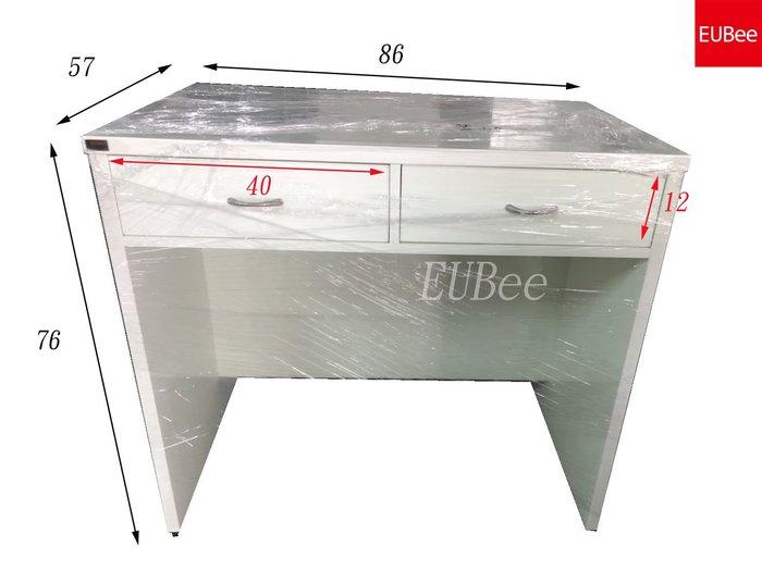 【優彼塑鋼】獨家。2.8尺深57二抽書桌/辦公桌/電腦桌/防水防蟲/可訂製/南亞塑鋼(IB003)