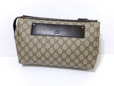 Gucci 二手真品 pvc 防水 收納包 手拿包