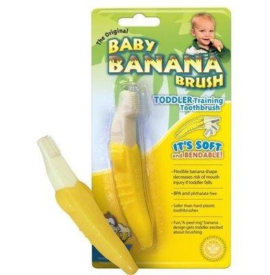 [如意] Banana Brush香蕉固齒器/幼兒牙刷/香蕉牙刷 (1-2歲適用)