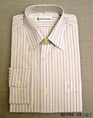 Roberta x 長袖襯衫│諾貝達白底深藍直紋商務襯衫 尺寸38  x 零碼 x  x 辦公族必買款