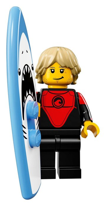 【LEGO 樂高】2017最新 積木/ Minifigures人偶包系列:17代 71018   #1 衝浪男孩+衝浪板