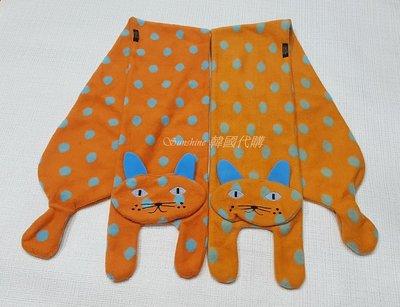 現貨 韓國製 童裝 貓咪 點點 圍巾