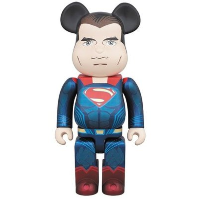 全新 未開封 Medicom Bearbrick 400% DC Batman vs Superman Superman 超人 Be@rbrick