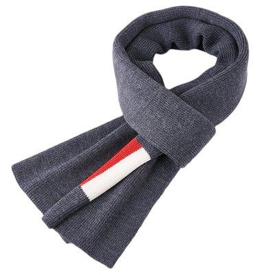 圍巾 針織披肩-羊毛提花百搭簡約男配件3色73wi74[獨家進口][米蘭精品]