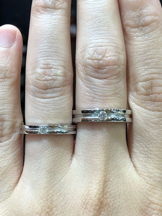 天然鑽石對戒 婚戒款式,厚實18K金戒台搭配高等級鑽石,八心八箭完美車工顏色D,超值優惠價一只13000,可分開購買,適合每日配戴的10分鑽石戒指