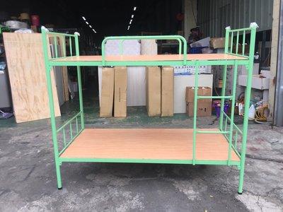 非凡精品家具 全新 馬卡龍綠 3尺雙層鐵床*實木上下舖*上下床*子母床*單人床架 台中市