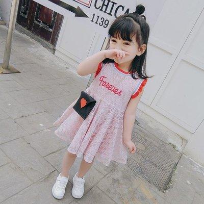 童裝女童夏裝韓版兒童無袖洋裝洋氣寶寶公主裙夏季裙子 韓語空間