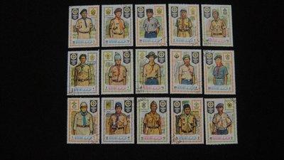 【大三元】亞洲郵票-印度郵票-各國專題郵票-童子軍--銷戳票15枚