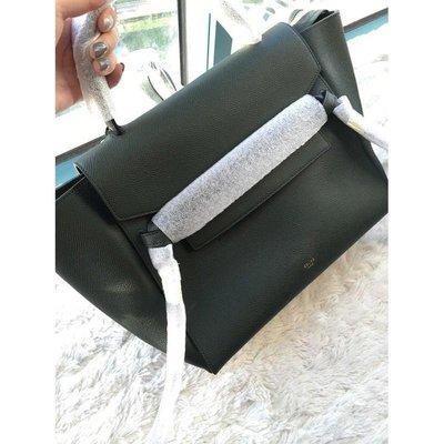 Celine Belt Bag 鯰魚包 Mini Belt Bag 中款28CM 黑色epson 皮紋