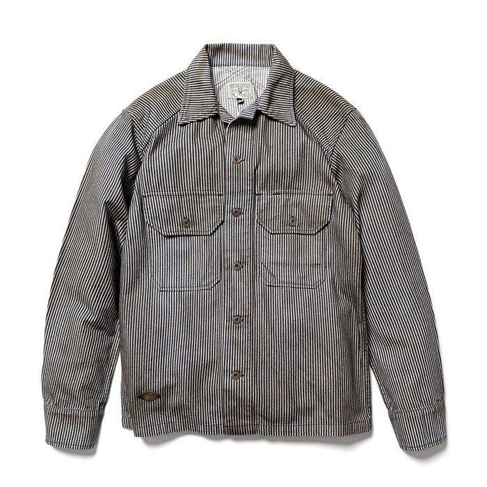 美國東村【Retrodandy】BrassTag Army Shirt - 條紋 Hickory象牙白 Ivory